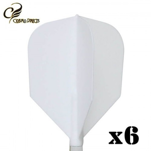 Piórka do lotek Cosmodarts Fit Flight x6 białe Shape